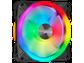 Goedkoopste Corsair iCUE QL120 RGB PWM Single Fan Zwart, 120mm