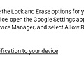 Remote lock met Android Device Manager