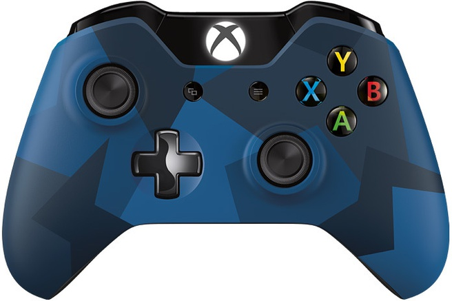Microsoft Xbox One Wireless Controller Midnight Forces Limited Edition Blauw, Xbox One