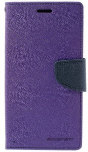 Mercury Samsung Galaxy S7 edge Fancy Diary Wallet Case - TPU frame - Purple
