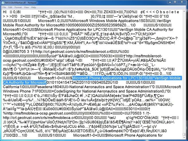Code Windows Phone 7 beveiliging applicatie Be A Martian