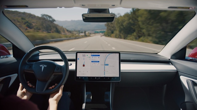 Tesla autopilot snelweg