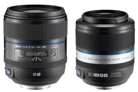 Samsung NX 85mm f/1,4 60mm f/2,8