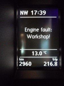 Engine fault: Workshop!
