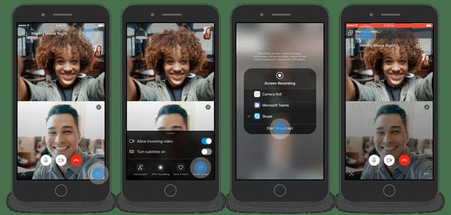 Skype test schermdeelfunctie