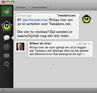 Retweet als reply in conversation view - click voor groot