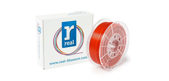 REAL filament rood 2,85 mm PETG 1 kg