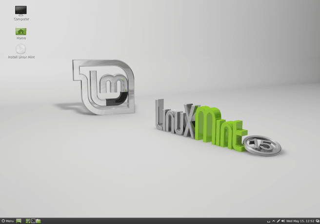 Linux Mint 15 op Cinnamon-desktop