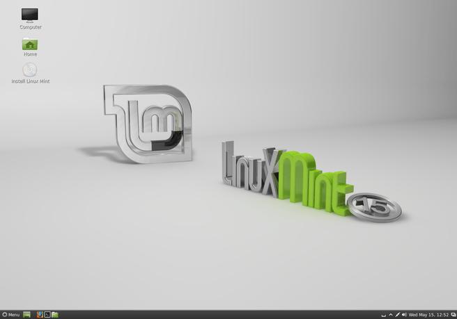 Linux Mint 15 op Cinnamon-desktop