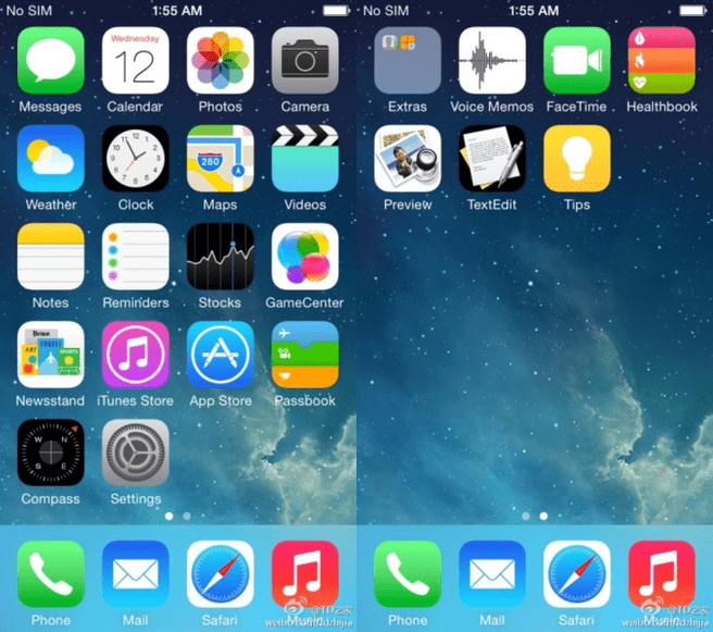 Screenshots iOS 8