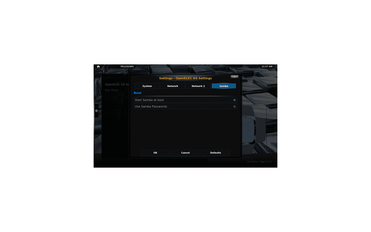 OpenELEC 2.0 screenshot