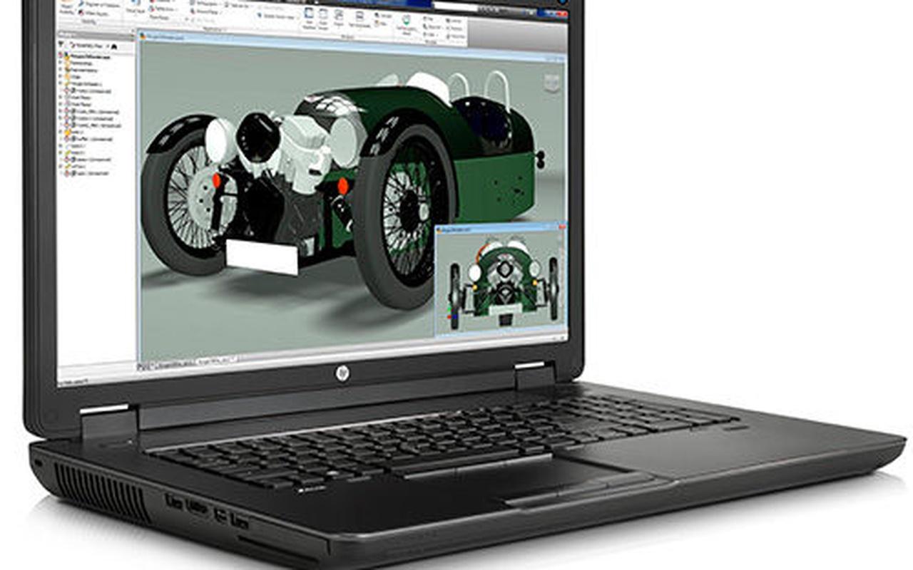 HP ZBook 17 G2 Schuin