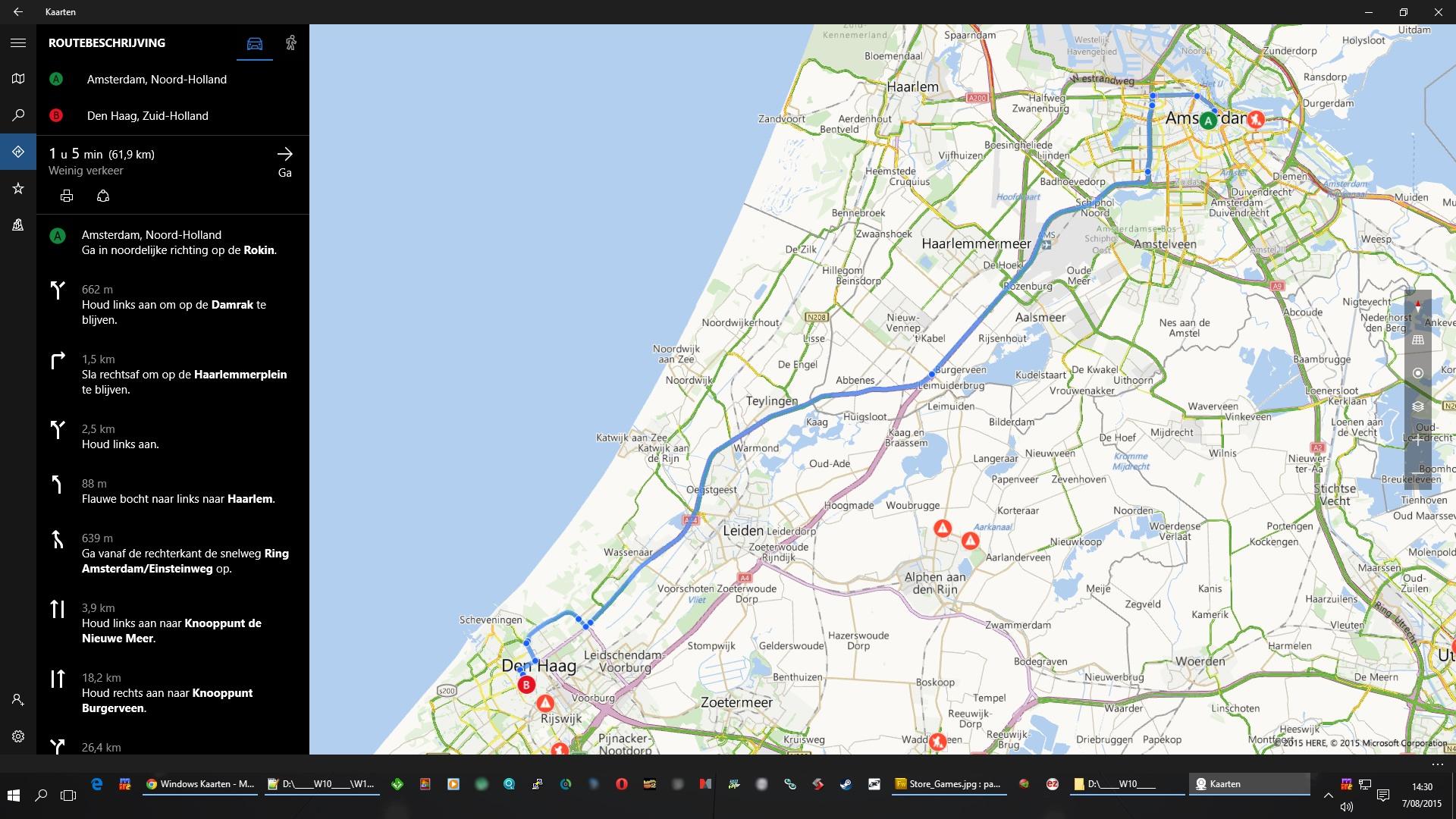 A'Dam naar D'n Haag