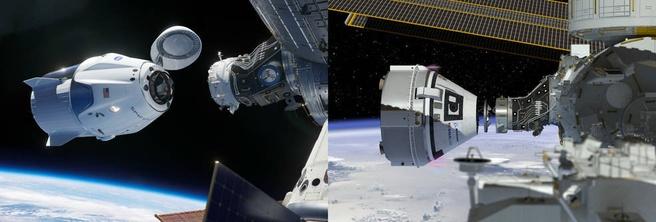 NASA dragon en starliner