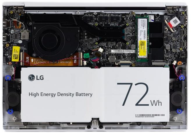 LG Gram 14Z90P - Binnenkant