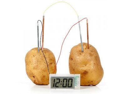 Aardappel-batterij