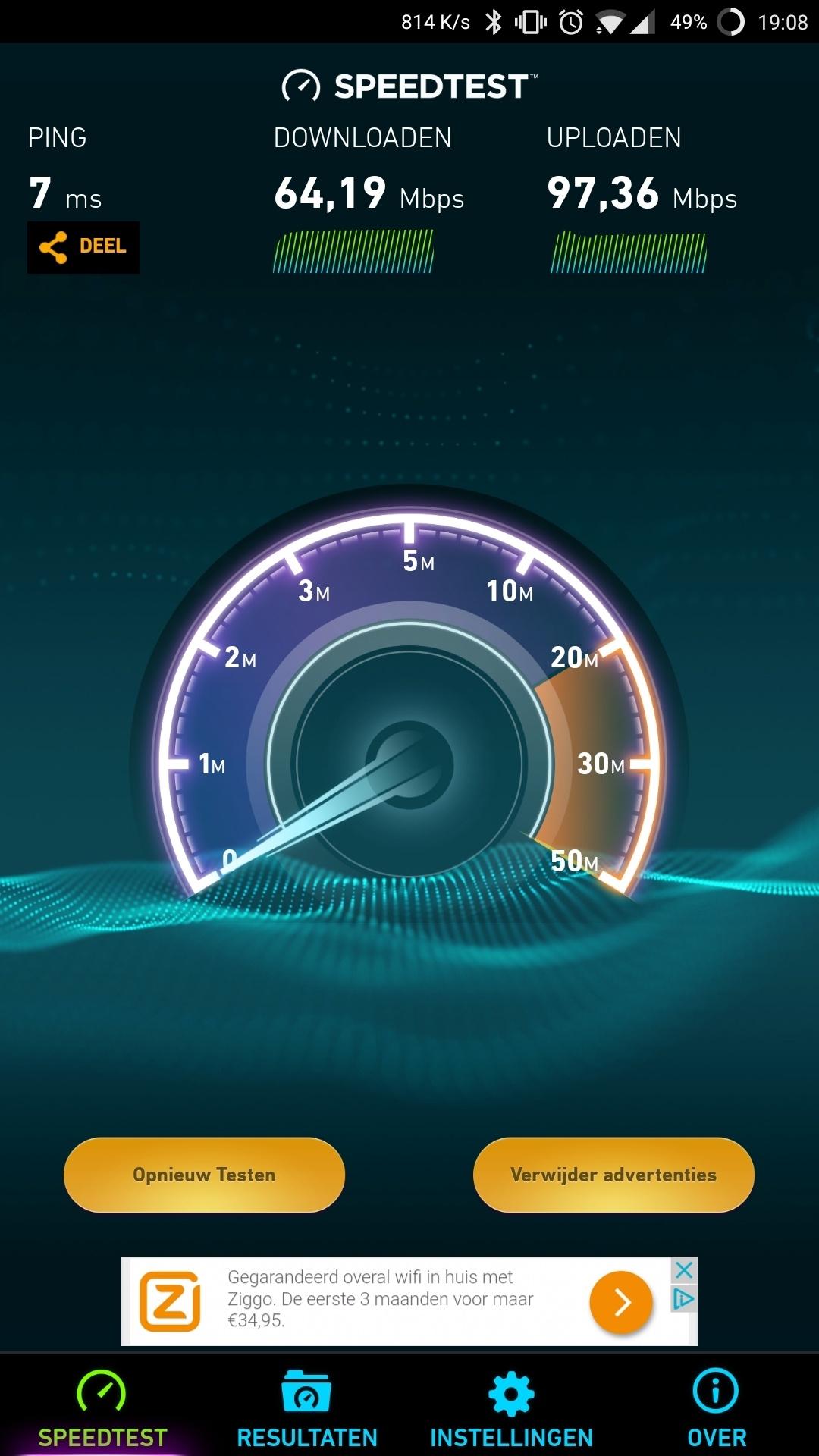 Woonkamer - Speedtest App 2G
