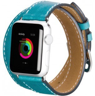 hoco Platinum Lederen Watchband Apple Watch (42mm) - Blue