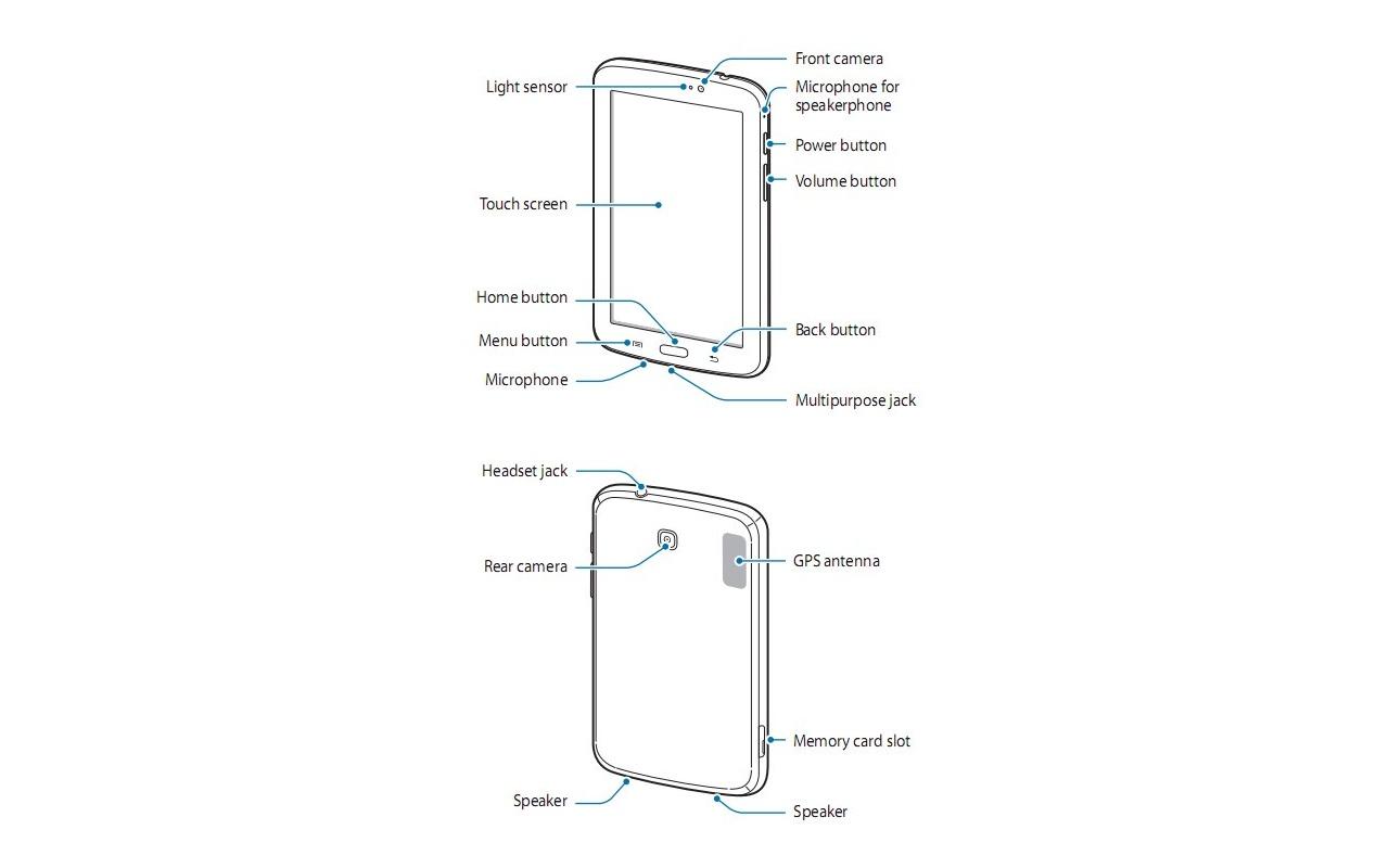 Samsung Galaxy Tab 3 7 inch schema