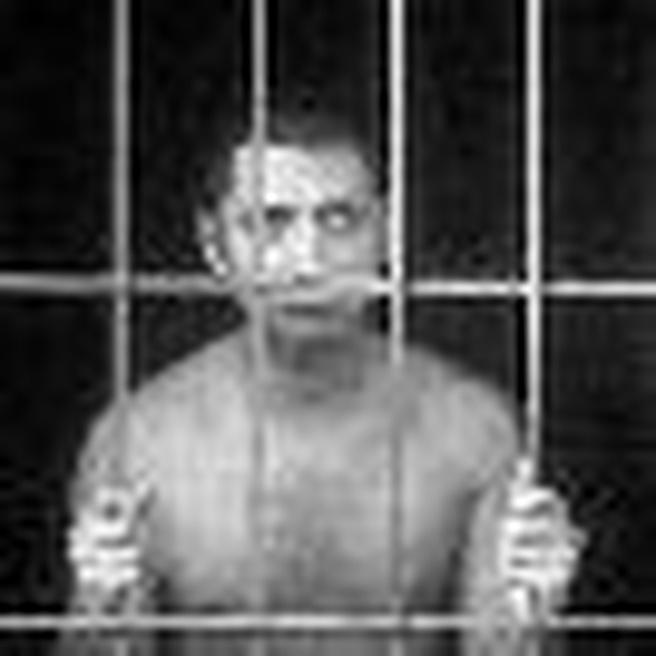 Gevangenis cel crimineel aankondiging