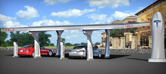 Supercharger-oplaadstation van Tesla