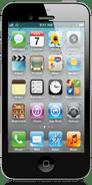 Mockup: iPhone met langer scherm (float)