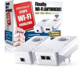 Devolo (09393 ) dLAN 1200+ Wfi AC Starter Kit Powerline Adapter - BE