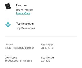 Play Store compressie- en update-update