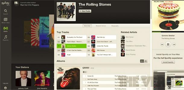 Spotify Web app
