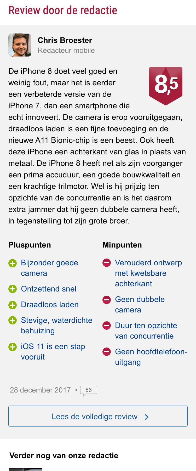 Reviewoverzicht - redactionele review