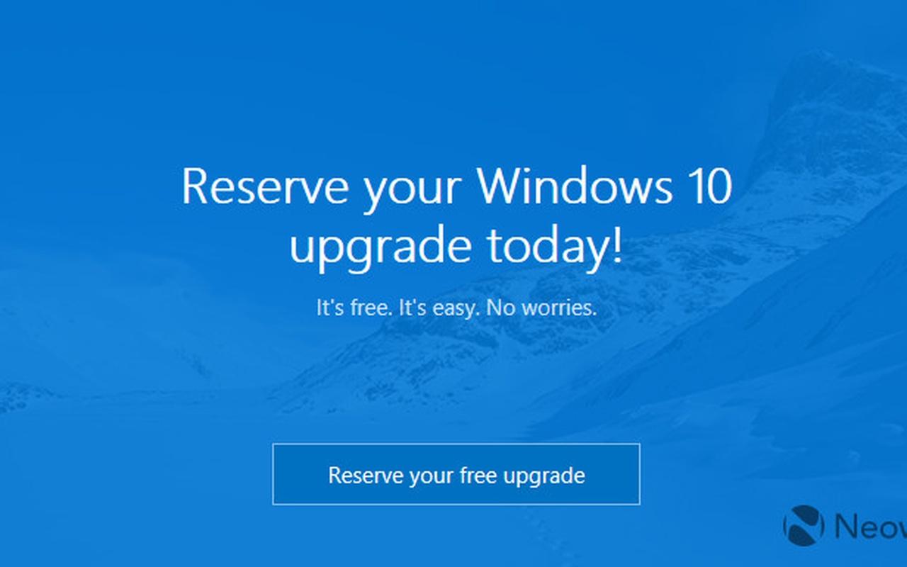 Windows 10 reserveren