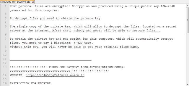 Linux.Encoder.1 ransom note