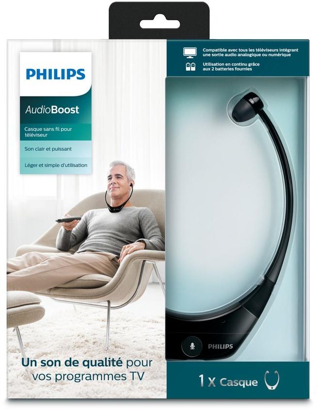 Philips Draadloze TV-stethoscoophoofdtelefoon