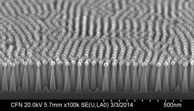Zonnepanelen met structuur van motten-ogen
