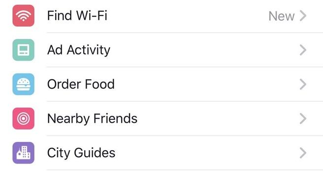 Facebook eten bestellen