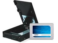 """Goedkoopste Crucial BX300 met 9,5mm adapter en 2,5"""" naar 3,5"""" converter 480GB"""