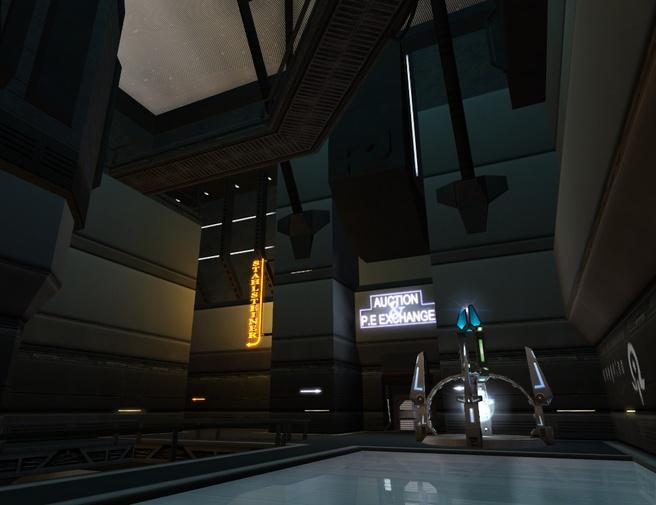 Crystal Palace ruimtestation in Entropia Universe