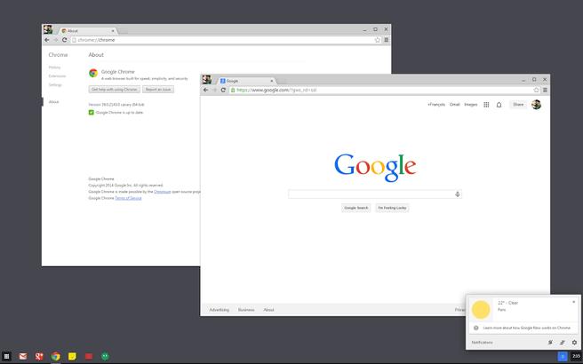 Chrome OS-modus in WIndows 7