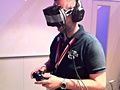John Carmack's virtual reality-bril in actie