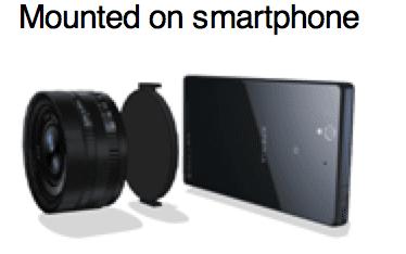 Sony-lens voor smartphones