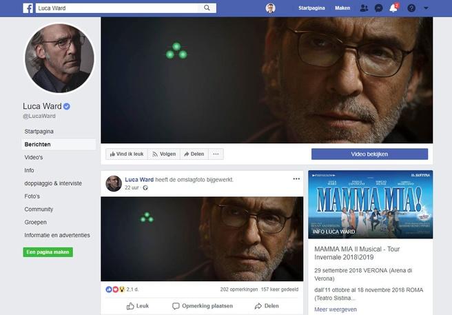 Luca Ward op Facebook