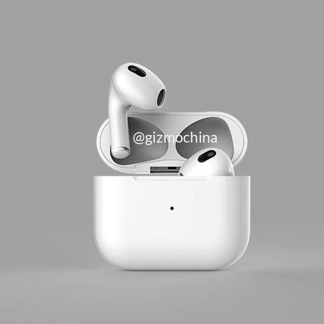 Apple AirPods 3-render via GizmoChina