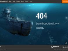 World of Warships 404 error met onderzeeër