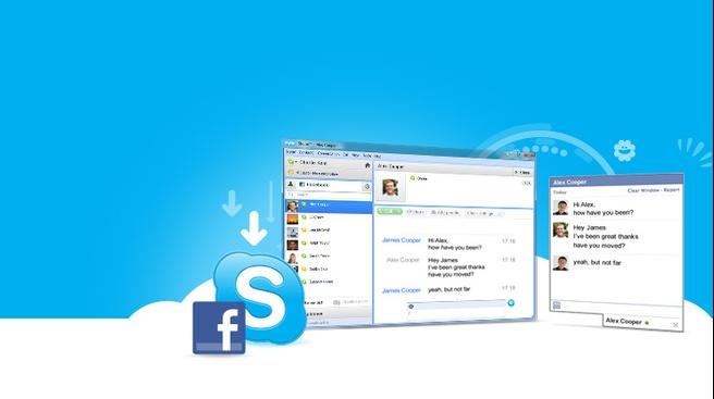 Skype 5.5 bèta met Facebook