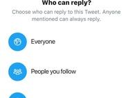 Twitter: kiezen wie er mag reageren