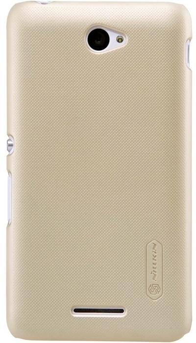 Nillkin Frosted Shield Hard Case + Folie Sony Xperia E4 - Gold