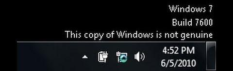 Niet-legale Windows 7