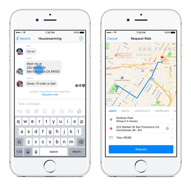 Facebook Messenger Transportation
