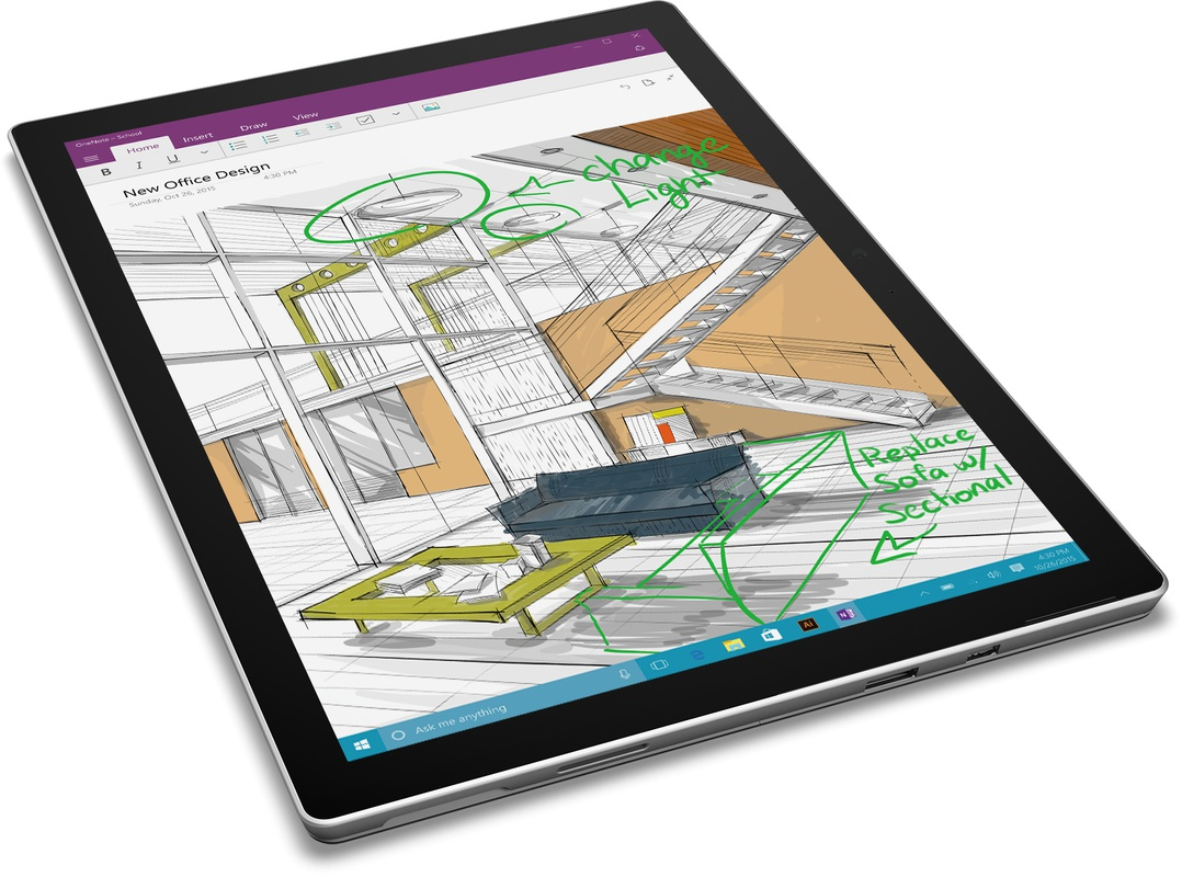 microsoft surface pro 4 core i5 4gb 128gb zilver specificaties tweakers. Black Bedroom Furniture Sets. Home Design Ideas
