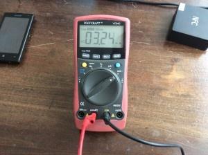 AC stroomverbruik Wave 40 @230V